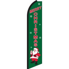 Merry Christmas Swooper Feather Flag