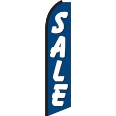 Sale (Blue & White) Swooper Feather Flag