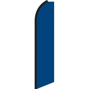 Solid Blue Swooper Feather Flag