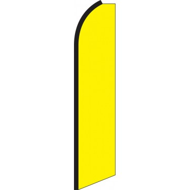 Solid Yellow Swooper Feather Flag