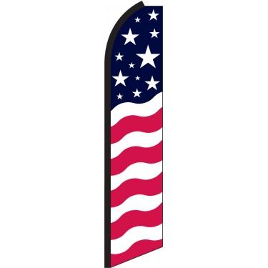 Stars & Bars Swooper Feather Flag