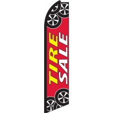 Tire Sale Swooper Feather Flag