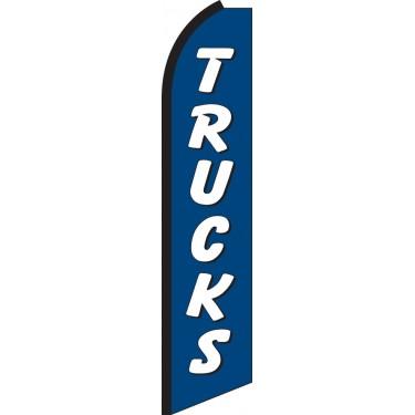 Trucks (Blue & White) Swooper Feather Flag