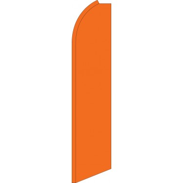 Solid Orange Swooper Feather Flag