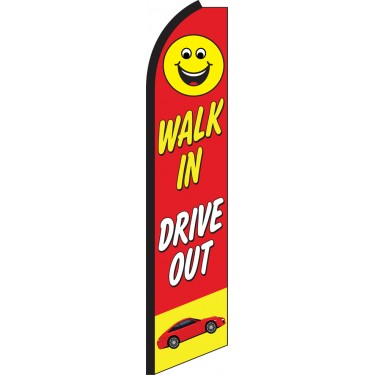 Walk In Drive Out Swooper Feather Flag