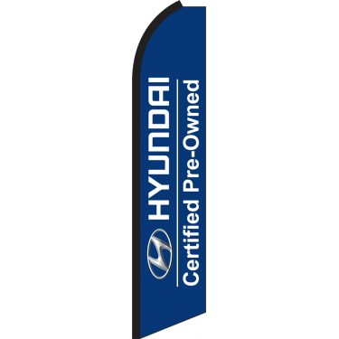 CERTIFIED PREOWNED Car Lot Feather Flag Tall Curved Top Bow Swooper Banner Sign