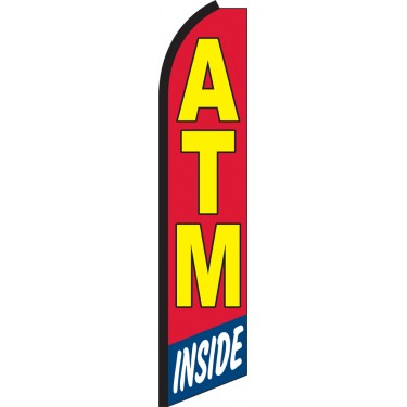 ATM Inside Swooper Feather Flag