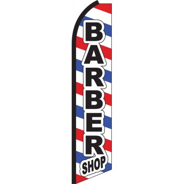 Barber Shop Swooper Feather Flag