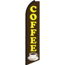 Coffee Swooper Feather Flag