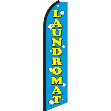 Laundromat Swooper Feather Flag