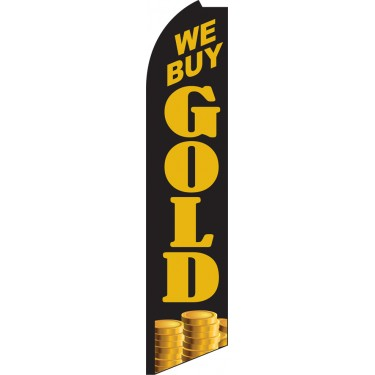 We Buy Gold Swooper Feather Flag
