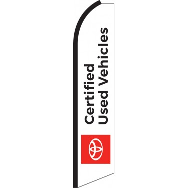 Toyota Certified (White Background) Swooper Feather Flag