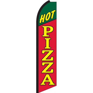 Hot Pizza Swooper Feather Flag