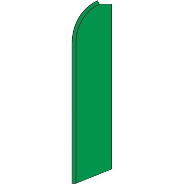 Solid Green Swooper Feather Flag