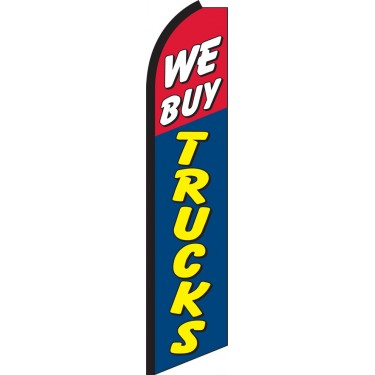We Buy Trucks Swooper Feather Flag