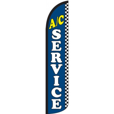 A/C Service Wind-Free Feather Flag