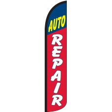 Auto Repair Wind-Free Feather Flag