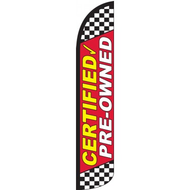 Certified Pre-Owned Red Wind-Free Feather Flag