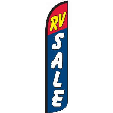 RV Sale Wind-Free Feather Flag