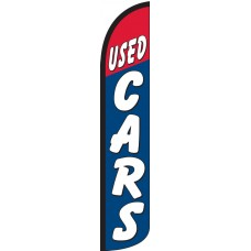 Used Cars Red/Blue Wind-Free Feather Flag