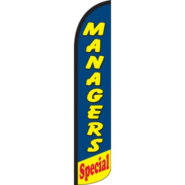 Managers Special Wind-Free Feather Flag