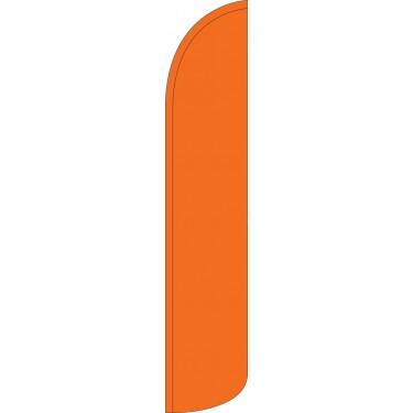 Solid Orange Wind-Free Feather Flag