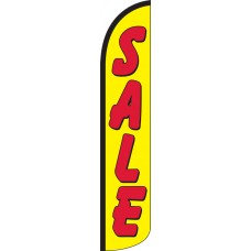 Sale (Yellow & Red) Wind-Free Feather Flag