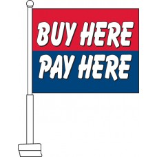 Buy Here Pay Here Car Flag