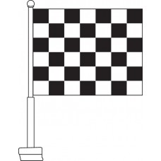 Checkered (Black & White) Car Flag