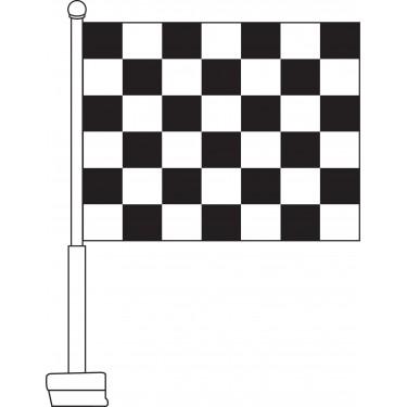 Checkered (Black & White) Car Flag