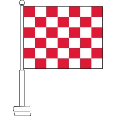 Checkered (Red & White) Car Flag