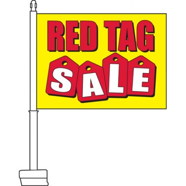 Red Tag Sale Car Flag