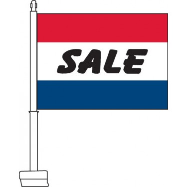 Sale (Red, White, & Blue) Car Flag